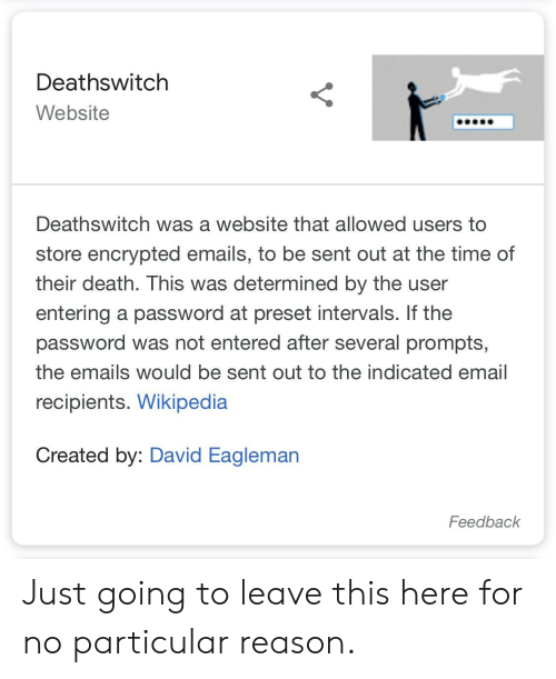 Deathswitch Website Deathswitch Was a Website That Allowed