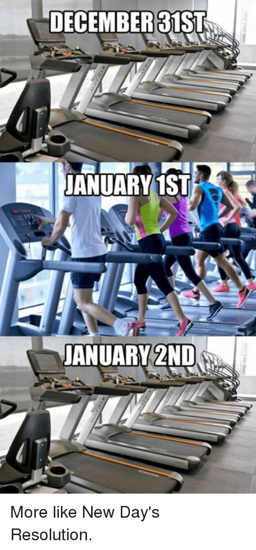 Dank, 🤖, and Resolution: DECEMBER31ST  ANUARY1ST  JANUARY 2ND More like New Day's Resolution.