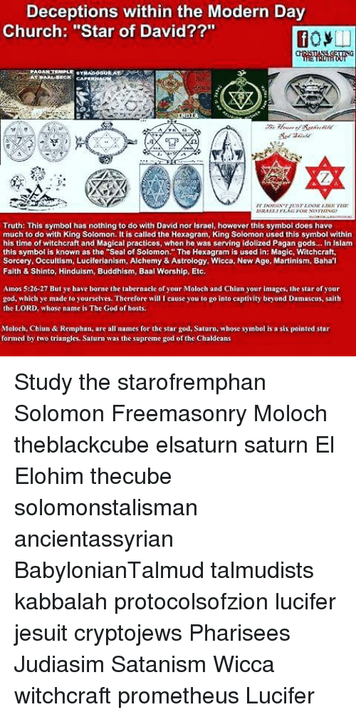 Deceptions Within The Modern Day Church Star Of David Truth This