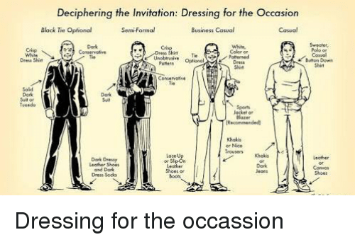 Deciphering the invitation dressing for the occasion semi formal memes suits and deciphering the invitation dressing for the occasion semi stopboris Image collections
