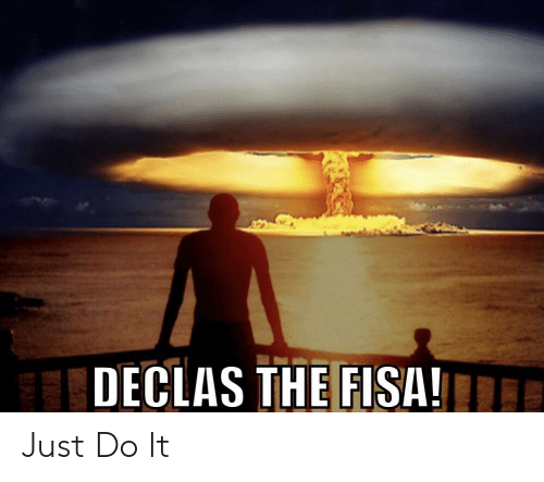 Just Do It, Do It, and Just: DECLAS THE FISA!E Just Do It