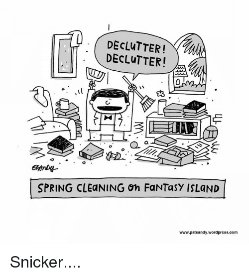 DECLUTTER! T DECLuTTERI L SPRING CLEaNING On FaNTasy
