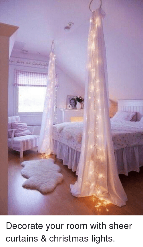 memes curtains and decoration decorate your room with sheer curtains christmas lights