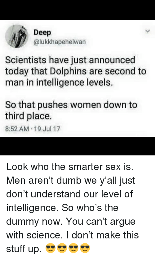 Who is the smarter sex