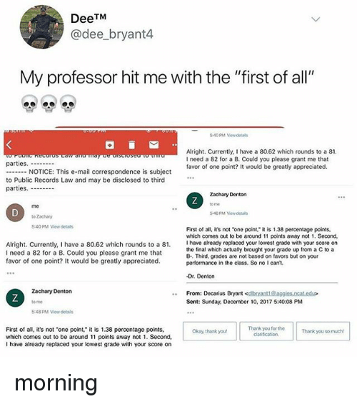 how to write a professional email to a professor