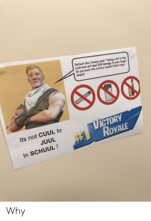 Default Skin Jonesy Says Taking a Hit in the Restroom Will Deal 200