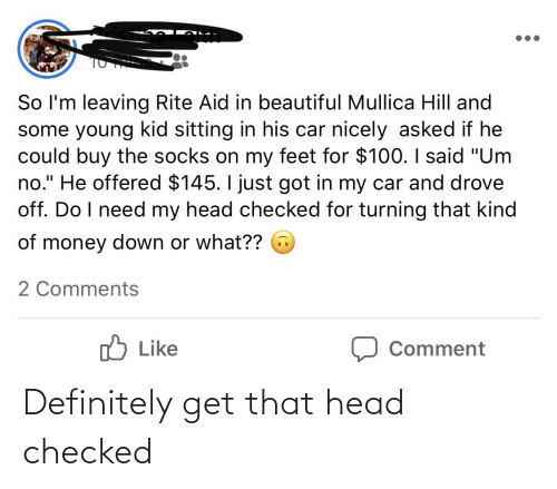Definitely, Head, and Thathappened: Definitely get that head checked