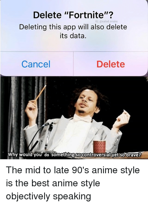 Anime, Memes, and Best: Delete