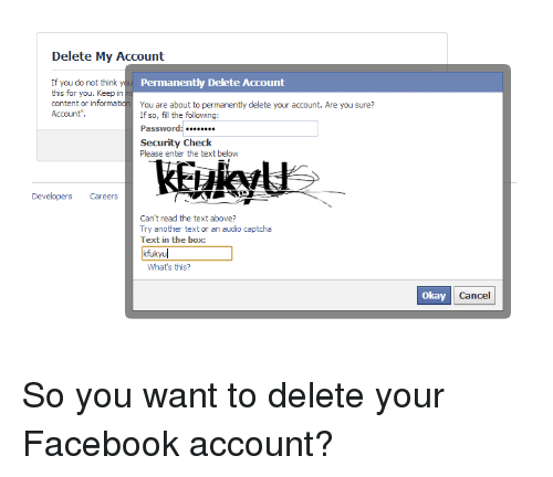Delete my account if you do not think y permanently delete account facebook okay and text delete my account if you do not think y ccuart Image collections