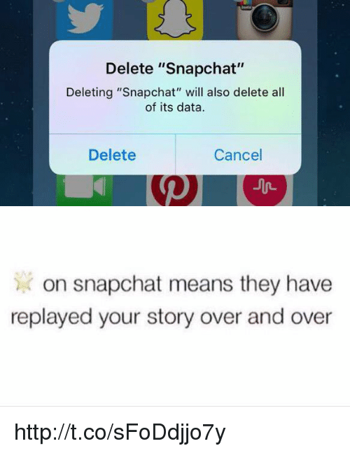 delete snapchat deleting snapchat will also delete all of its 2101048 ✅ 25 best memes about snapchat meanings snapchat meanings memes