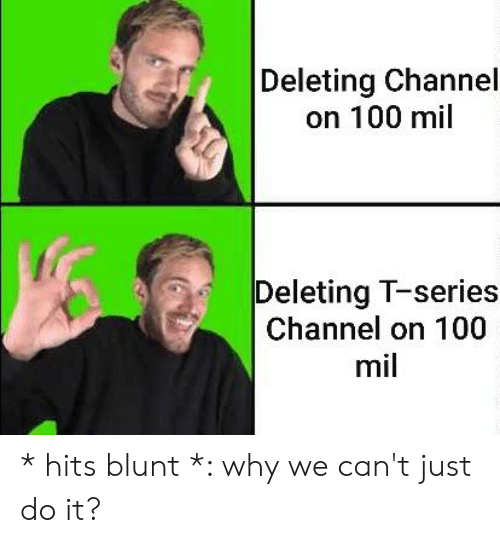 Anaconda, Just Do It, and Why: Deleting Channel  on 100 mil  Deleting T-series  Channel on 100  mil * hits blunt *: why we can't just do it?