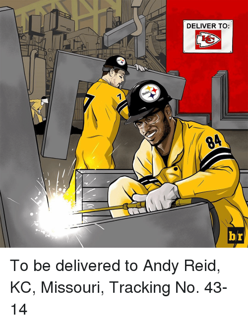 Andy Reid, Sports, and Missouri: DELIVER TO:  br To be delivered to Andy Reid, KC, Missouri, Tracking No. 43-14