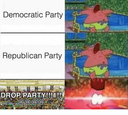 Party, Democratic Party, and Republican Party: Democratic Party  Republican Party  DROP PARTY!!!