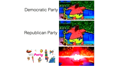 Democratic Party Republican Party Wii Party | Party Meme on