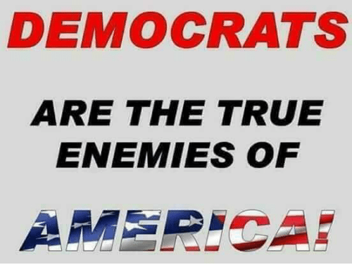 America, Memes, and True: DEMOCRATS  ARE THE TRUE  ENEMIES OF  AMERICA