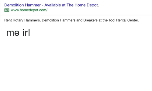Demolition Hammer Available At The Home Depot Ad Wwwhomedepotcom - Demolition hammer rental home depot