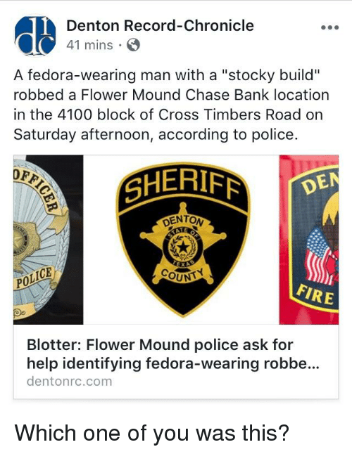 Denton Record-Chronicle 41 Mins a Fedora-Wearing Man With a Stocky