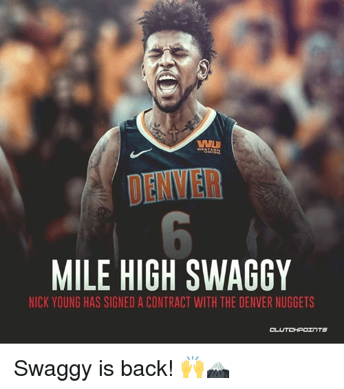 buy popular 283b4 0544e DENVER MILE HIGH SWAGGY NICK YOUNG HAS SIGNED a CONTRACT ...