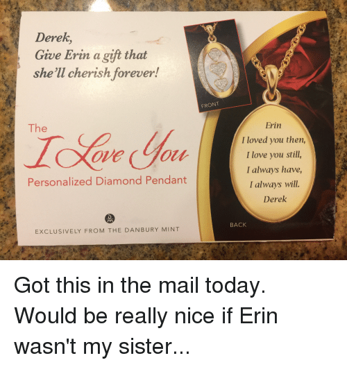 5970a5330 Derek Give Erin a Gift That She'll Cherish Forever! The Personalized ...