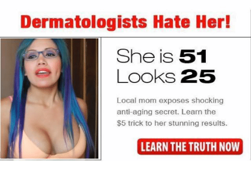 Moms, Espanol, and Truth: Dermatologists Hate Her!  She is 51  Looks 25  Local mom exposes shocking  anti-aging secret. Learn the  $5 trick to her stunning results.  LEARN THE TRUTH NOW