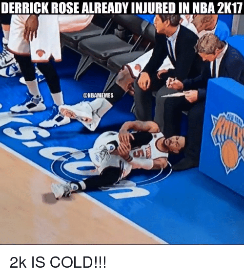 5585e7d9c0b DERRICK ROSE ALREADYINJURED IN NBA 2K17 2k IS COLD!!!