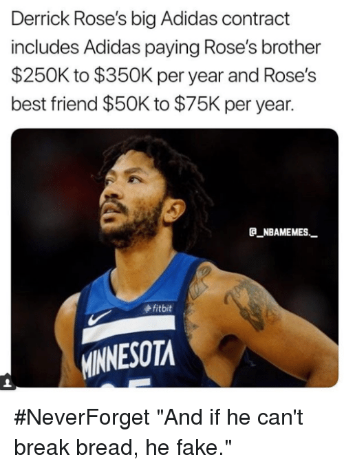 adidas derrick rose contract