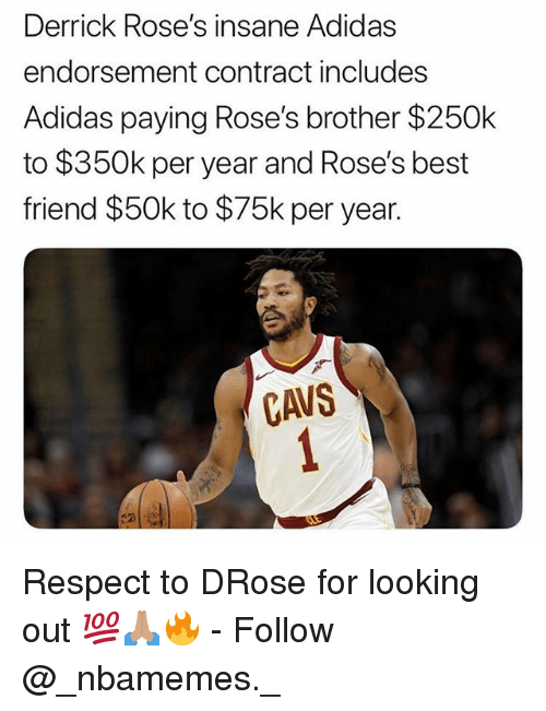 derrick rose adidas endorsement