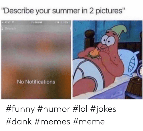 """Dank, Funny, and Lol: """"Describe your summer in 2 pictures'""""  Search  No Notifications #funny #humor #lol #jokes #dank #memes #meme"""