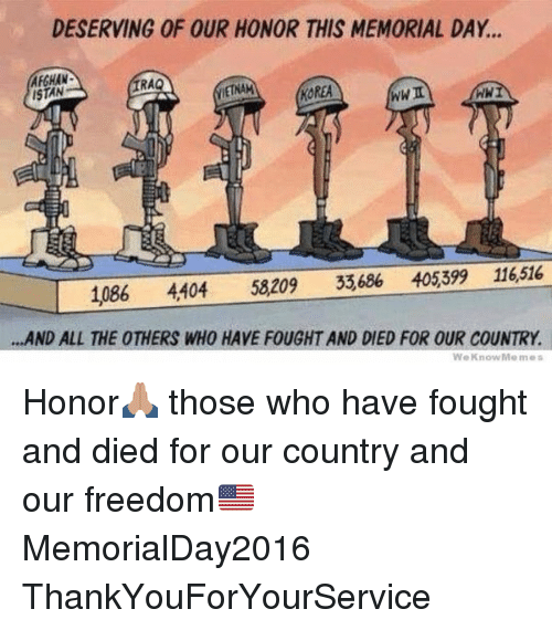 deserving of our honor this memorial day afghan ra etnam 11069560 ✅ 25 best memes about memorial day memorial day memes