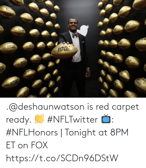 Memes, 🤖, and Fox: .@deshaunwatson is red carpet ready. 👏 #NFLTwitter  📺: #NFLHonors | Tonight at 8PM ET on FOX https://t.co/SCDn96DStW
