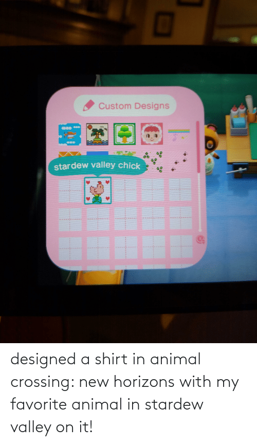 Designed A Shirt In Animal Crossing New Horizons With My Favorite