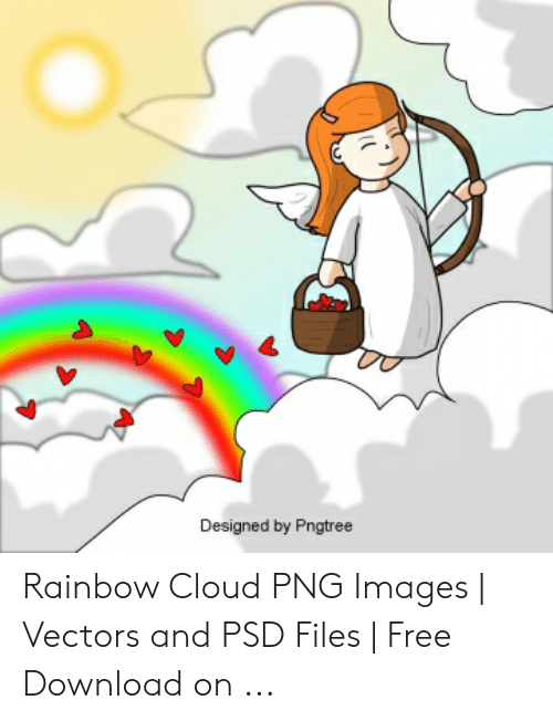 Designed by Pngtree Rainbow Cloud PNG Images | Vectors and