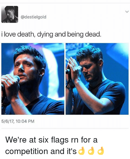 destiel gold i love death dying and being dead 5 6 17 20640323 destiel gold i love death dying and being dead 5617 1004 pm we're