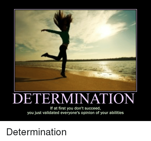 Persistence Motivational Quotes: DETERMINATION If At First You Don't Succeed You Just