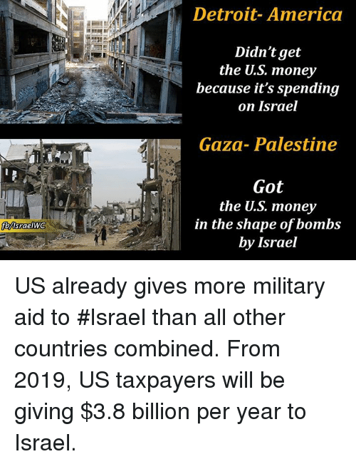 Image result for US gives Israel military aid