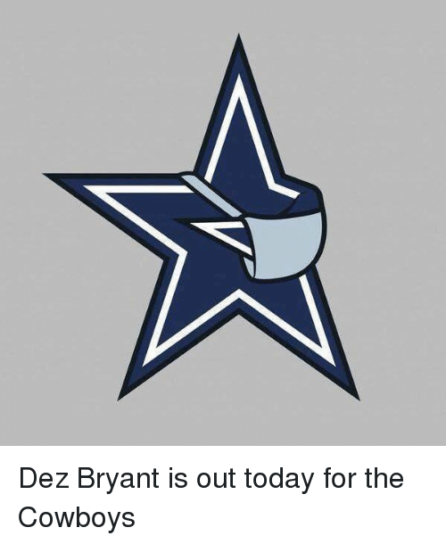 dez bryant is out today for the cowboys 4228340 dez bryant is out today for the cowboys dez bryant meme on me me