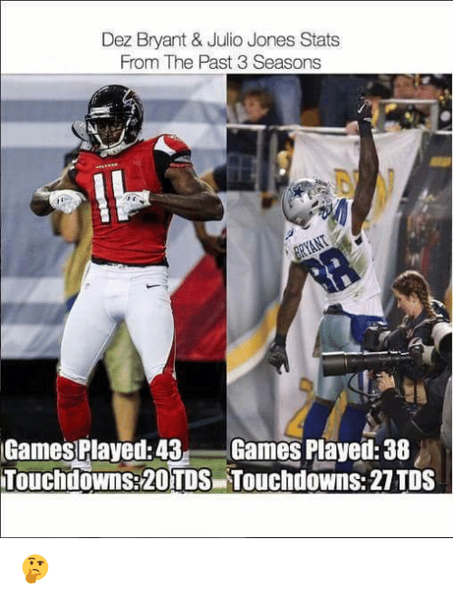 Dez Bryant Julio Jones Stats From The Past 3 Seasons Il