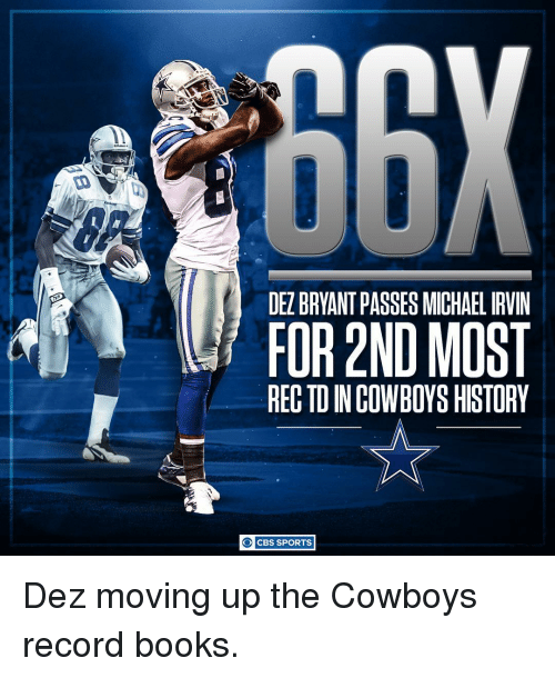 Dez Bryant Passes Michael Irvin For 2nd Most Rectdincowboys