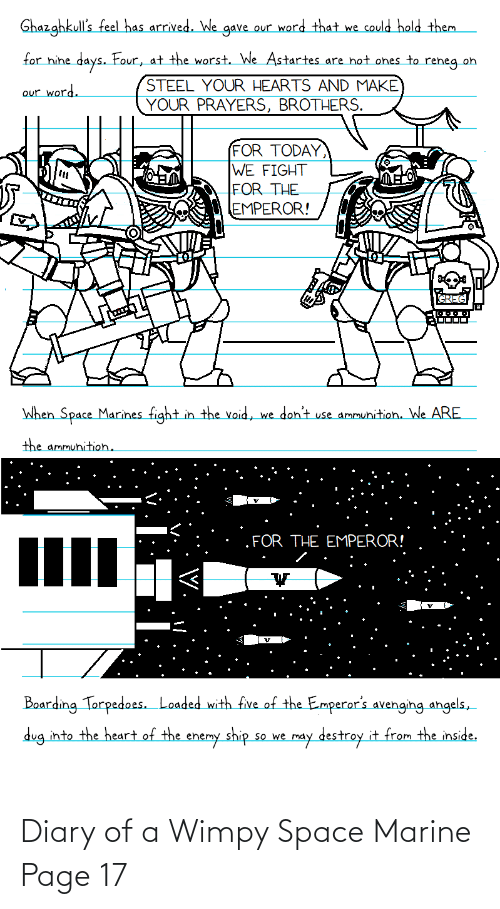Space, Page, and Space Marine: Diary of a Wimpy Space Marine Page 17