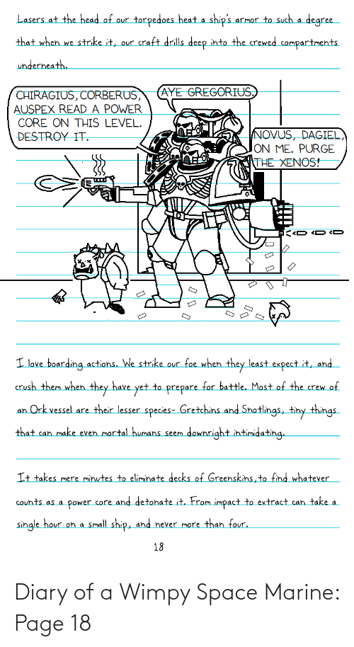 Space, Page, and Space Marine: Diary of a Wimpy Space Marine: Page 18