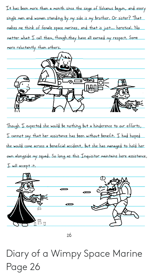 Space, Page, and Space Marine: Diary of a Wimpy Space Marine Page 26