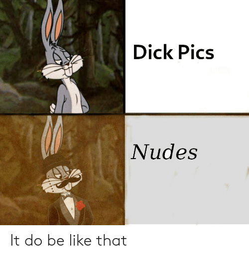Be Like, Dick Pics, and Nudes: Dick Pics  Nudes It do be like that