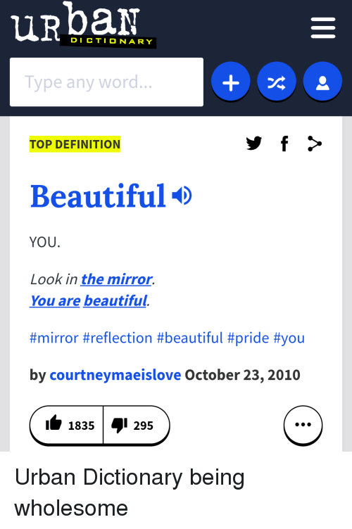 definition of the word beautiful