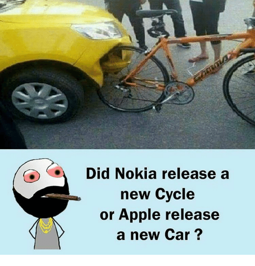 Apple, Cars, and Memes: Did Nokia release a  new Cycle  or Apple release  a new Car