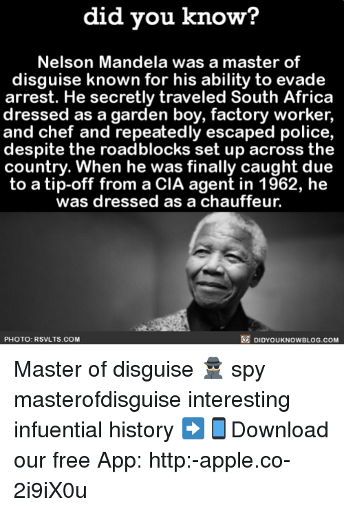 did vou know nelson mandela was a master of disguise 25747384 25 best disguise memes its memes, basically memes, that memes