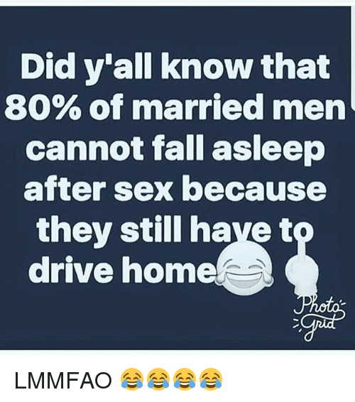 Why do people fall asleep after sex