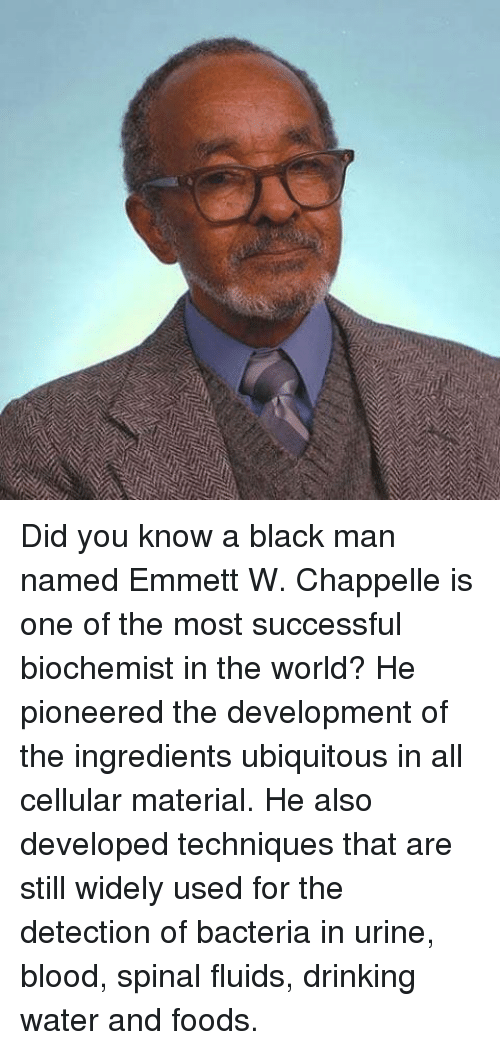 Did You Know A Black Man Named Emmett W Chappelle Is One Of The Most