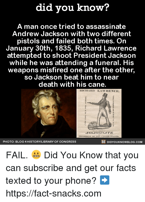 did you know a man once tried to assassinate andrew 11172969 ✅ 25 best memes about andrew jackson andrew jackson memes