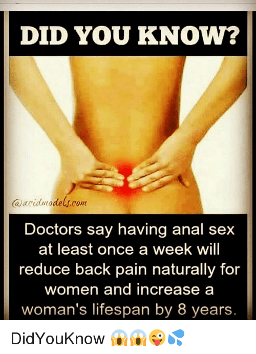 What doctors say about anal sex