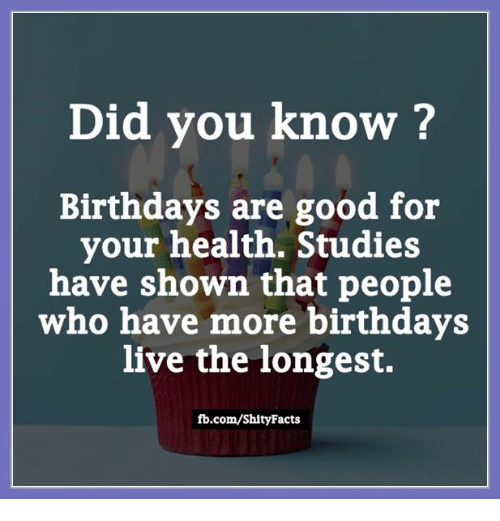 Did You Know? Birthdays Are Good For Your Health Studies